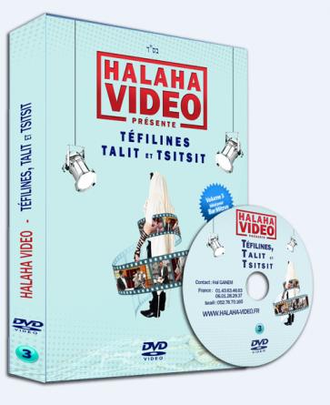 """DVD Volume 3 de Halaha-Vidéo  """"Téfilines, Talit et Tsitsit"""""""