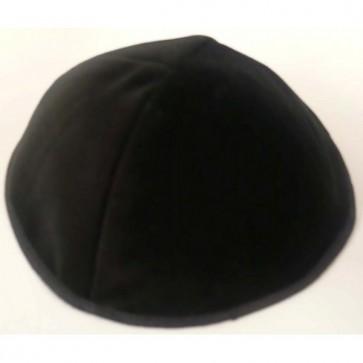 Kippa noire en velours
