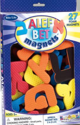 Lettres Alef Bet en mousse magnétique