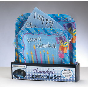 "Assiettes et serviettes ""Happy Chanukah"""