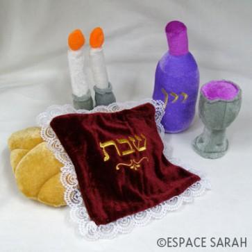 Mon set de Shabbat en peluche